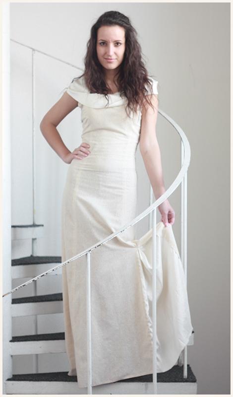 Šaty z mírumilovného hedvábí od Renaty Holoubkové