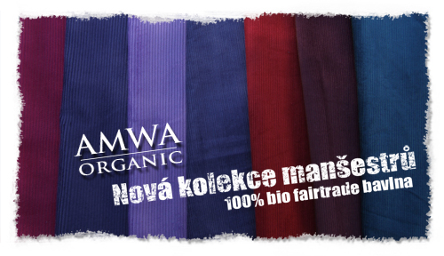 100% fairtrade biobavlna manšestry