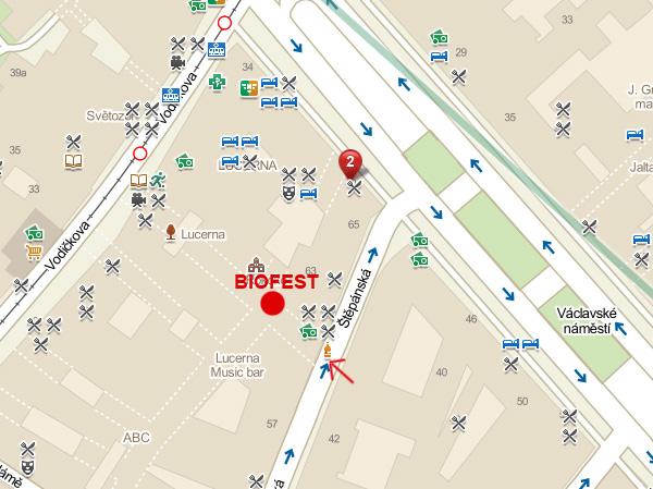 Mapa BIOFESTu v Lucerně