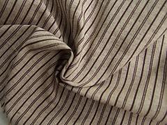 Protkávaná lněný vzhled s proužky 100% bio bavlna