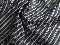 Protkávaná černá s jemnými proužky 100% bio bavlna