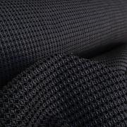 Košíkový vzor antracitový 100% bio bavlna