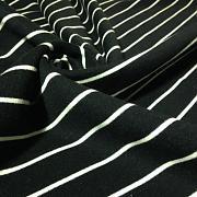 Výplněk (fleece) černý s bílým pruhem 100% biobavlna