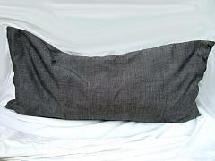 Bio pohankovo-špaldový polštář MACÍK antracitový
