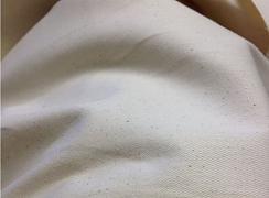 Pružný twill Natural zrnitý s lycrou - 95% bio bavlna