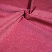 Protkávaná sytější červená jemná 100% bio bavlna
