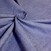 Protkávaná sytější modrá jemná 100% bio bavlna
