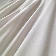 Bambusový strečový jednolíc bílý