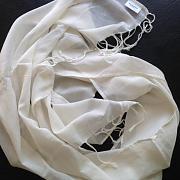 Voálový šátek natural - 100% biobavlna