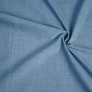 Protkávaná nebesky modrá 100% bio bavlna