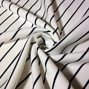 Výplněk (fleece) bílý s černým pruhem 100% biobavlna