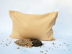 Bio pohankovo-špaldový polštář  žlutý