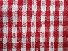 Káro červené velké 100% bio bavlna