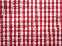 Káro červené malé 100% bio bavlna