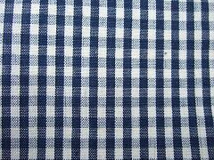 Káro modré malé 100% bio bavlna