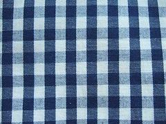 Káro modré velké 100% bio bavlna