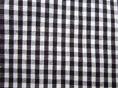 Káro černé malé 100% bio bavlna