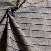 Protkávaná černá s proužky 100% bio bavlna