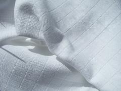 Plátno kostkované bílé 100% biobavlna