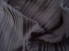 Bambusové hedvábí černé proužky 2