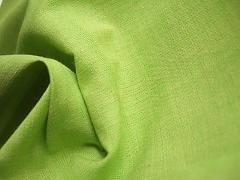 Plátno 100% fairtrade biobavlna limetkové